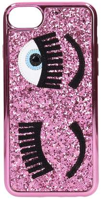 Chiara Ferragni Cover Iphone S6-7-8 Flirting Glitter