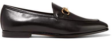 Gucci - Jordaan Horsebit-detailed Leather Loafers - Black