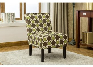 Best Master Furniture Modern Metro Geometric Pattern Accent Chair