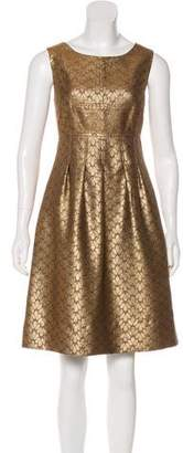 Lela Rose Brocade Knee-Length Dress
