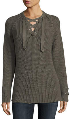 Pure & Co. Boundless Lace-Up Sweater , Petite