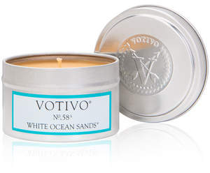 Votivo Tin Candle - White Ocean Sands