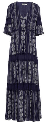 Jonathan Simkhai Embroidered Cotton-Voile Tiered Maxi Dress