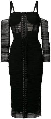 Dolce & Gabbana lace-up midi dress