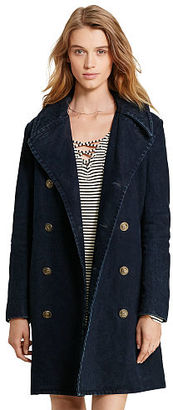 Ralph Lauren Denim & Supply Cotton Dobby Pea Coat $325 thestylecure.com