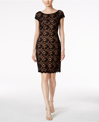 Connected V-Back Lace Dress $89 thestylecure.com