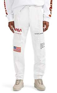 "Heron Preston Men's ""NASA"" Tech-Fabric Pants - White"