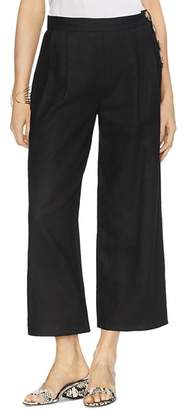 Vince Camuto Pleated Cropped Linen Pants
