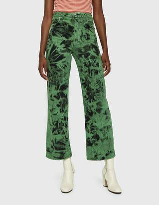Eckhaus Latta Wide Leg Jean in Lagoon