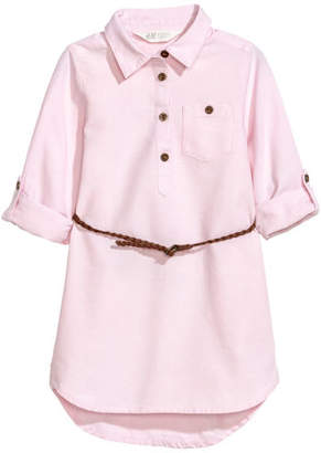 H&M Shirt Dress with Belt - Pink