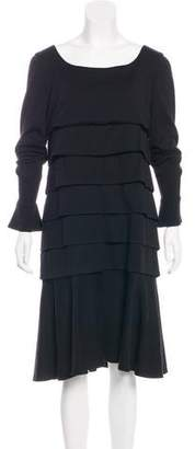 Chanel Ruffled Wool Dress