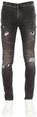 17.5cm Biker Destroyed Denim Jeans $1,035 thestylecure.com