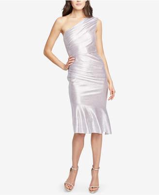 Rachel Roy Metallic One-Shoulder Midi Dress