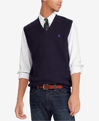 Polo Ralph Lauren Men's V-Neck Cotton Sweater Vest