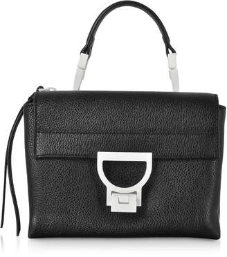 Coccinelle Arlettis Sporty Black Leather Shoulder Bag