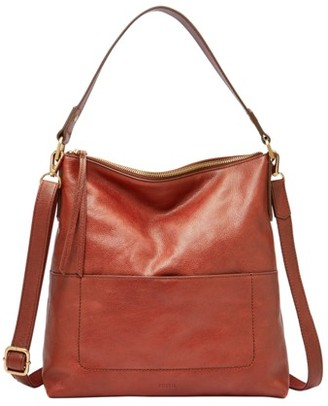 Fossil Amelia Hobo Handbags Brandy