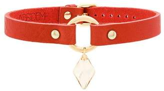 Absidem gem embellished choker necklace