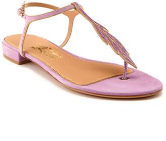 Salvatore Ferragamo Milli Suede T-Strap Sandal