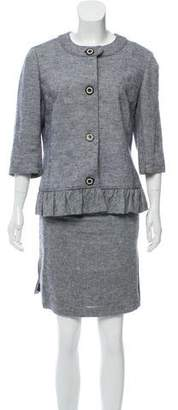 Tory Burch Linen Blend Skirt Suit