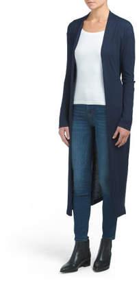 Duster Cardigan With Belt Tie
