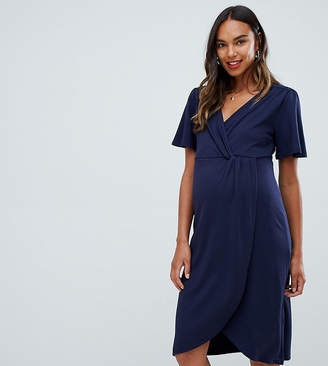 Mama Licious Mama.licious Mamalicious short sleeve wrap dress
