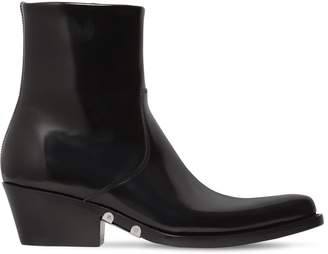 Calvin Klein 50mm Tiesa Brushed Leather Cowboy Boots