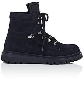 Moncler Men's Egide Suede Hiking Boots - Navy