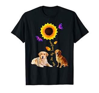 Golden Retriever You Are My Sunshine Sunflower Lover Tshirts