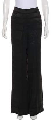Halston Mid-Rise Wide-Leg Pants