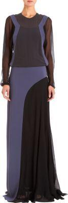 Balenciaga Colorblocked Gown