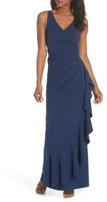 Vince Camuto Laguna Faux Wrap Gown