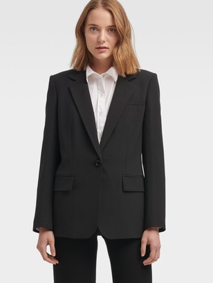 Donna Karan Donnakaran Single-Breasted One-Button Blazer Black 0