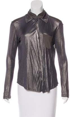 Christian Dior Metallic Button-Up Top