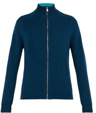 Paul Smith High Neck Cashmere Sweater - Mens - Blue