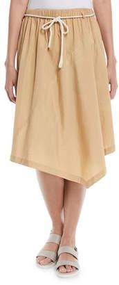 Vince Belted Handkerchief Knee-Length Skirt