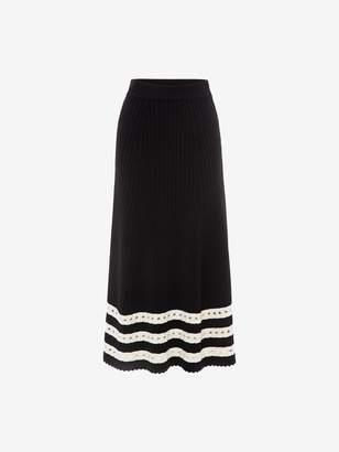 Alexander McQueen Ribbed Stripe Skirt