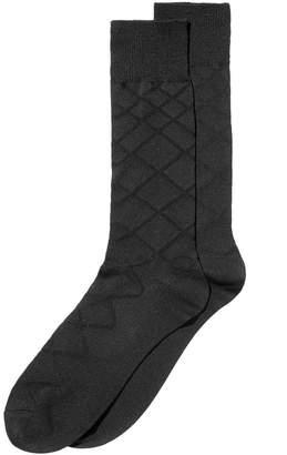 Perry Ellis Men Luxury Textured Socks