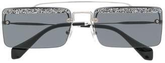 Miu Miu square frame glitter sunglasses