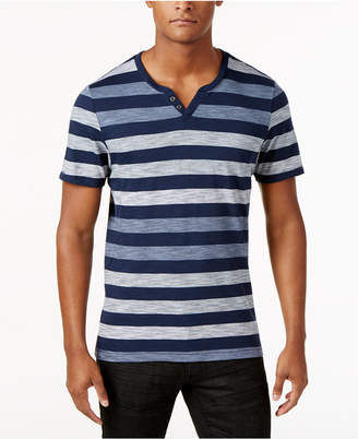 INC International Concepts I.n.c. Men's Heathered Striped T-Shirt, Created for Macy's