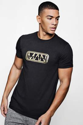 boohoo Original MAN Foil Print T-Shirt