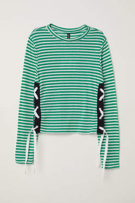 H&M Sweater with Lacing - Green