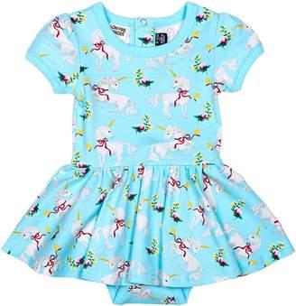 Rock Your Baby Baby Girl's Unicorn Waist Dress