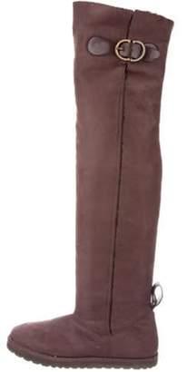 Stella McCartney Sherpa Knee-High Boots Brown Sherpa Knee-High Boots