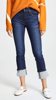 James Jeans Highrise Ankle Straight Cuffed Jeans