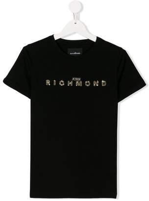 John Richmond Kids TEEN embroidered logo T-shirt