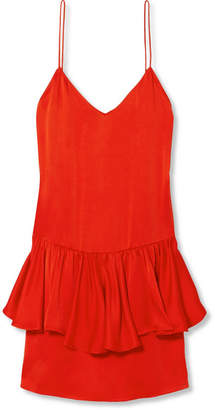 Stella McCartney Layered Satin Mini Dress