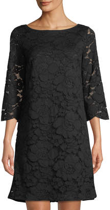 Karl Lagerfeld Paris 3/4-Sleeve Lace Bow-Back Dress