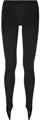 Jacquemus Stretch-jersey Stirrup Leggings - Black