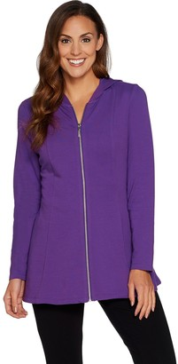 Denim & Co. Active Fit and Flare French Terry Zip Front Jacket