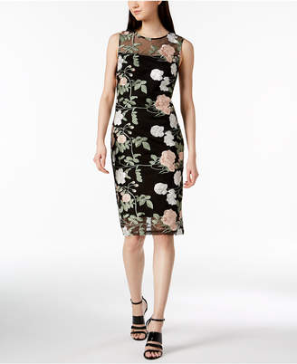 Calvin Klein Embroidered Mesh Dress